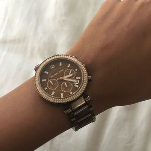 Chocolate Brown Michael Kors watch